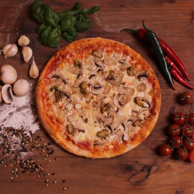 Kagylós - gombás pizza