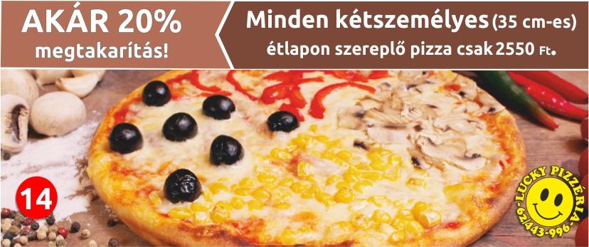 5 db 28 cm-es SONKÁS pizza csak 4500 Ft.